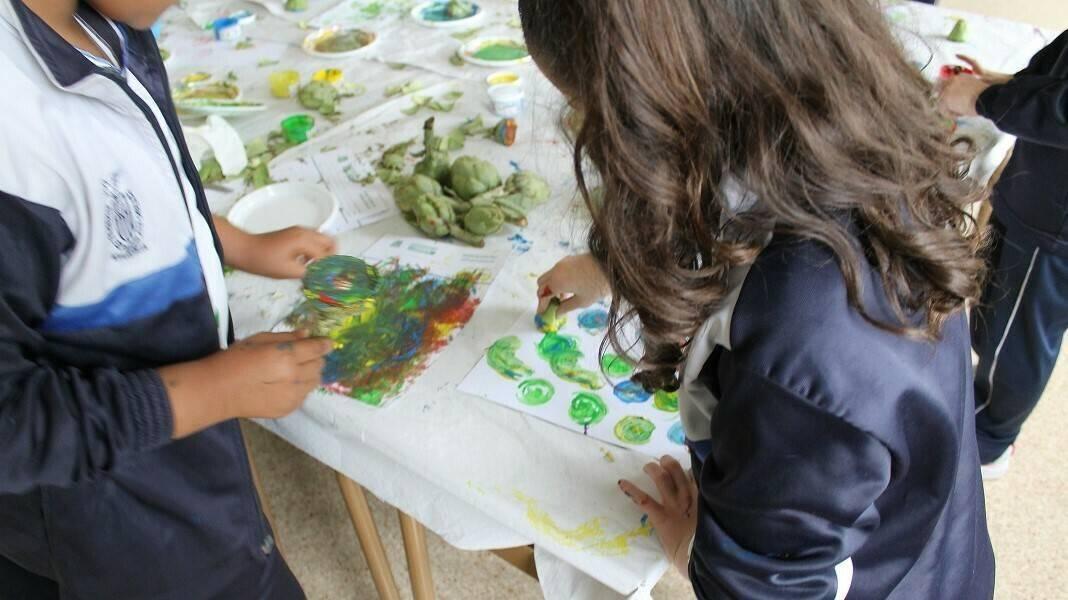 Talleres didácticos de alcachofa para escolares