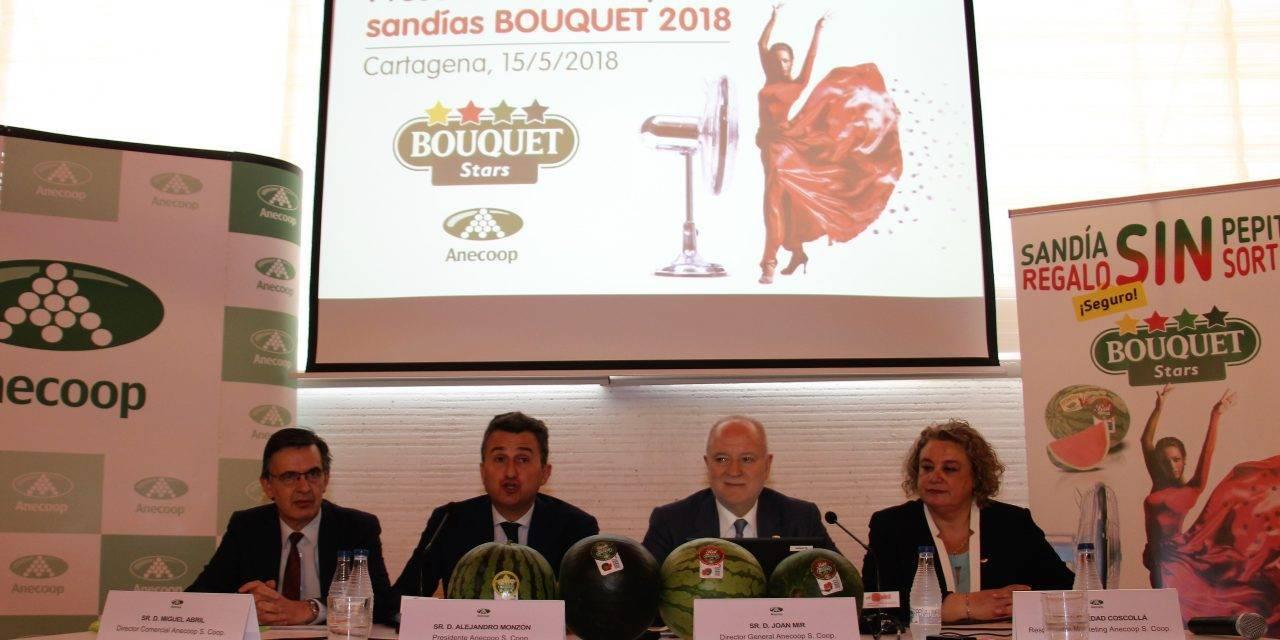 Anecoop con sus sandías Bouquet lidera el comercio europeo de sandías