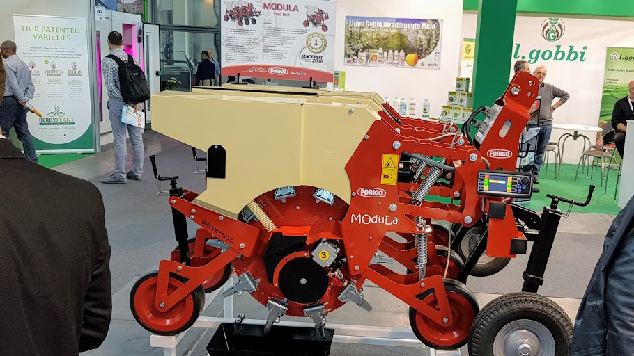 Modula, la sembradora eléctrica de Forigo Roteritalia, premiada en Macfrut