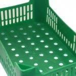 Nueva caja de plástico reutilizable para fresas y cerezas