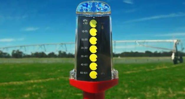 GDot, el display de la humedad del suelo que se ve desde lejos