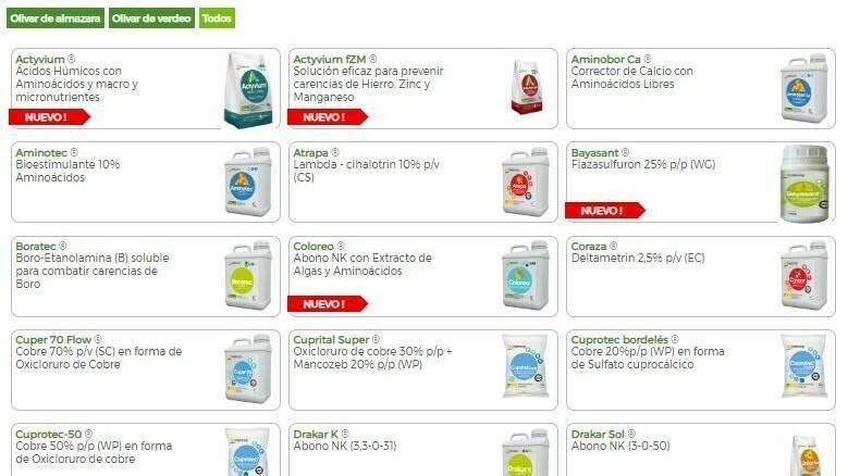 Tradecorp en Expoliva y con sus nutricionales y fitosanitarios para el olivar