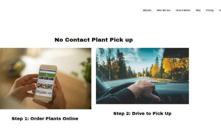 No-contact plant pickup website launched by a software company