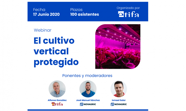 Cultivo vertical protegido, primer webinar en España