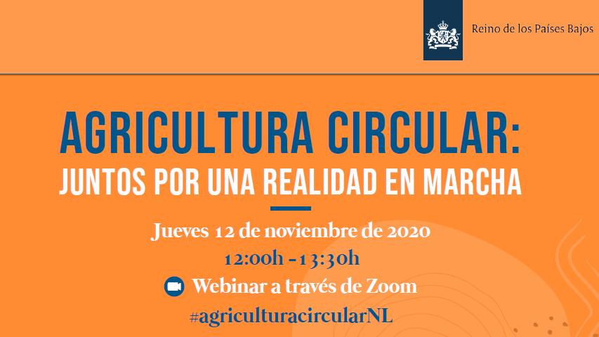 Webinar sobre Agricultura circular: juntos por una realidad en marcha