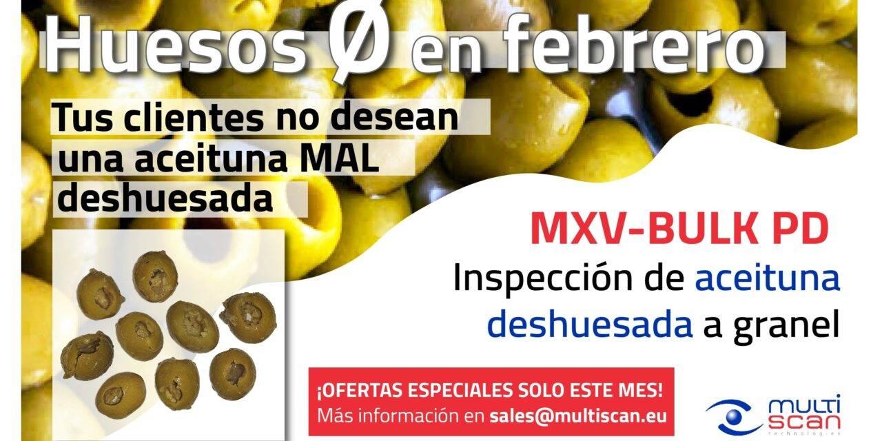 Aceituna de mesa: campaña «huesos cero en febrero» de Multiscan