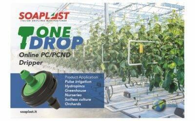 ONE-DROP®, el gotero para riego súper versátil de Soaplast