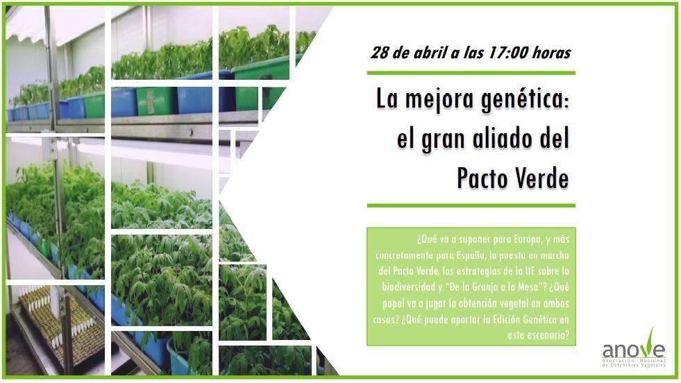 Debate Anove «La mejora genética: el gran aliado del pacto verde»