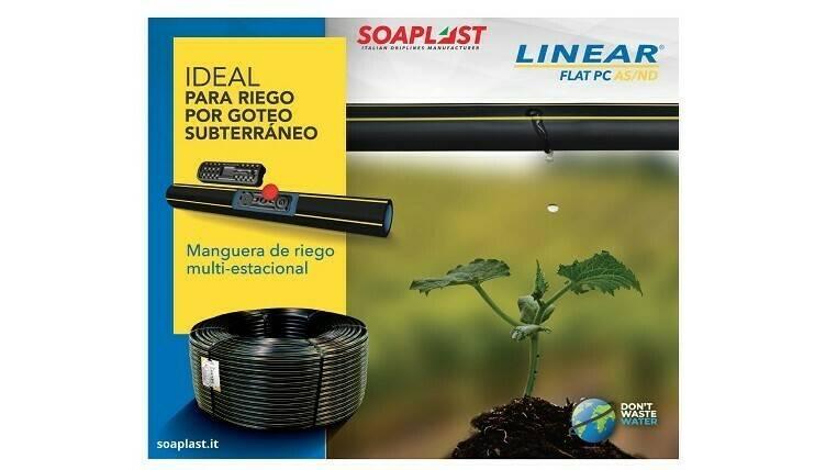 Linear Flat Pc: para el riego por pulsos y sub-riego
